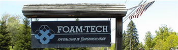 FOAM-TECH Sign. Route 5 North Thertford, Vermont