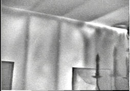 Infrared image showing thermal bridging and air leakage